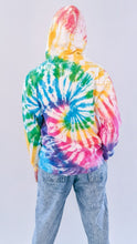Load image into Gallery viewer, Jungle Party - Rainbow Spiral Tie Dye Hoody
