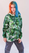 Load image into Gallery viewer, Parhelion Tie Dye Hoody Green Black