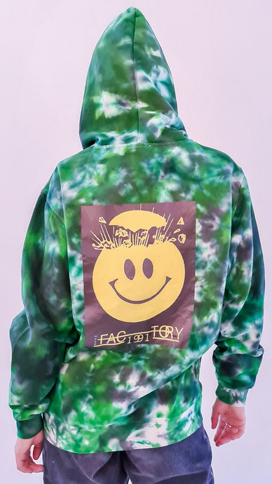 Wasp Factory Tie Dye Hoody Green Black