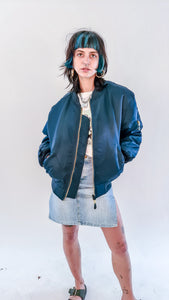 Planet Rave MA-1 Bomber Jacket dark Blue