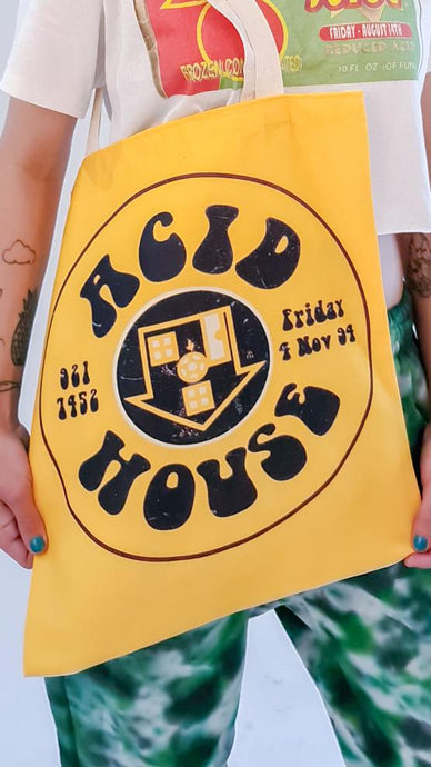 Acid House Edge to Edge Tote Bag