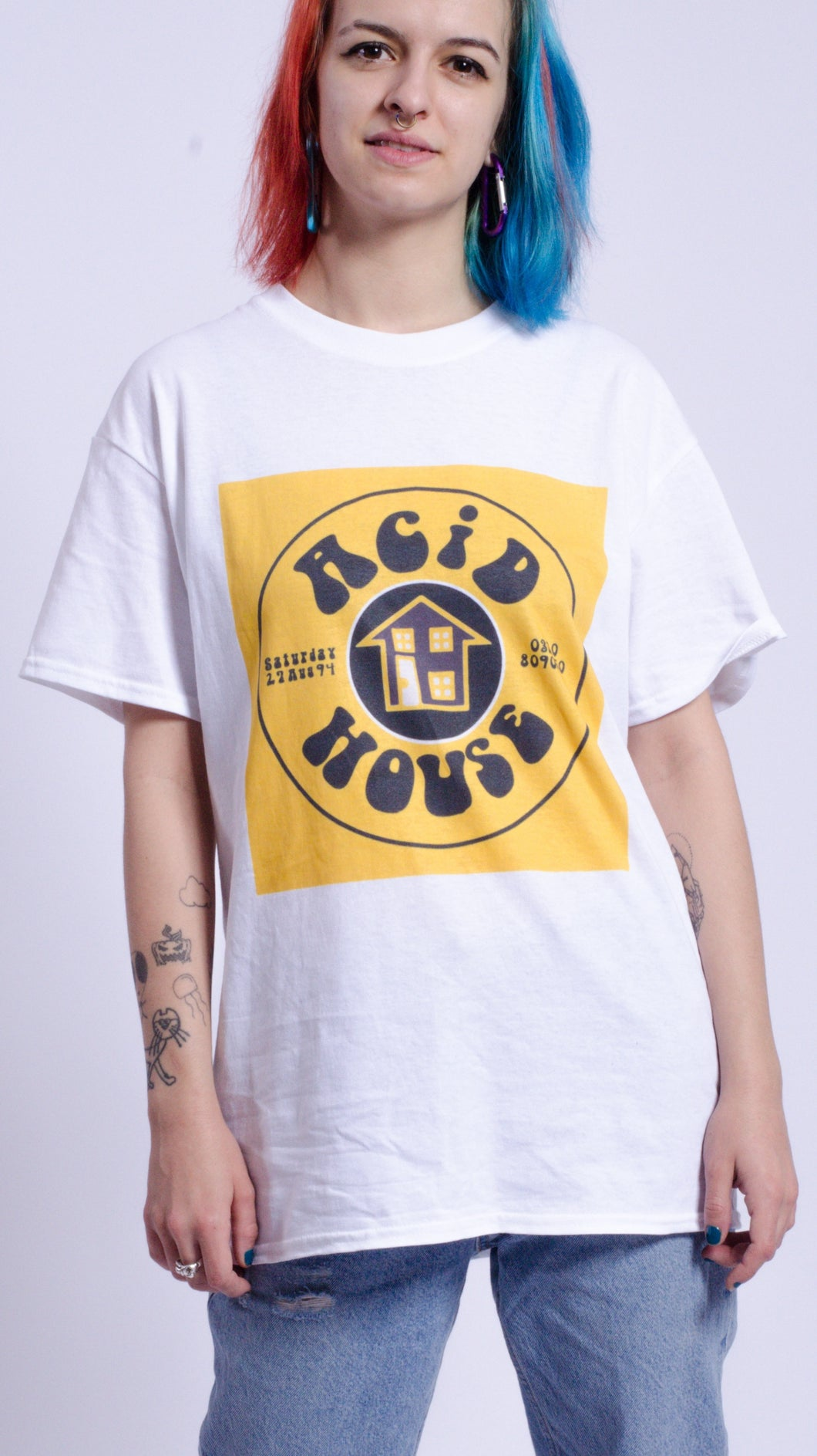 Acid House Short Sleeve Tee White (BOGO50%OFF)