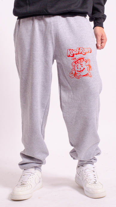 Kool-Rave Screen Printed Joggers Grey
