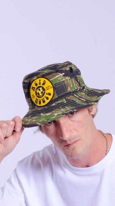 Acid House patch cargo hat camo