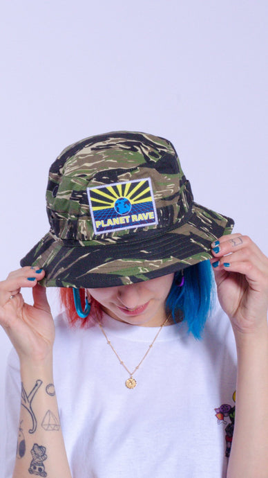 Plane Rave patch cargo hat camo