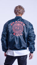 Load image into Gallery viewer, Planet Rave MA-1 Bomber Jacket dark Blue