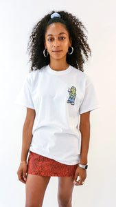 Qravers Man Short Sleeve Tee White (BOGO50%OFF)