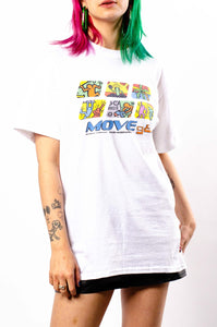 Move 98 Short Sleeve Tee White (BOGO50%OFF)