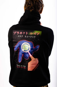 Planet Rave Japan Hoody Black