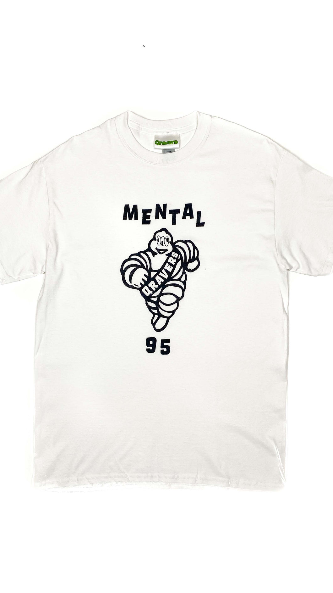 Mental 95 Rave Tshirt White (BOGO50%OFF)