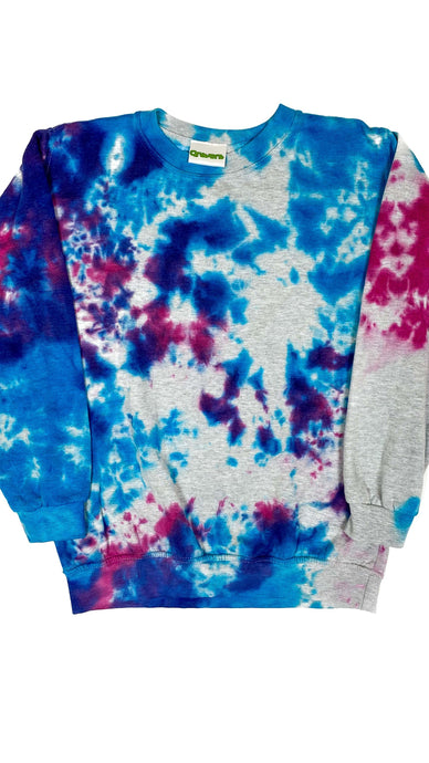 Plain Tie Dye Sweater Blue and Purple