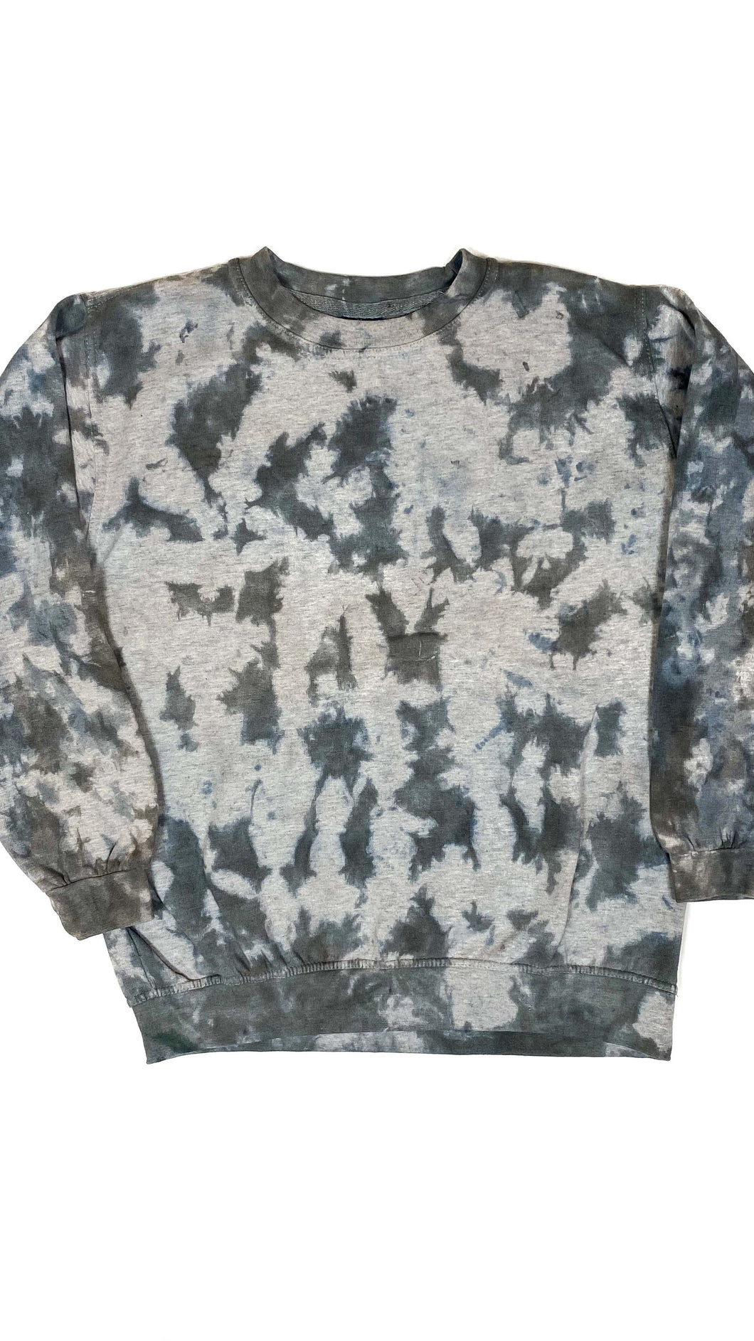 Plain Tie Dye Sweater Grey and Black