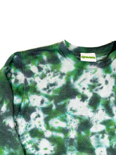 Load image into Gallery viewer, Plain Tie Dye Sweater Green and Black