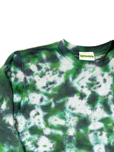 Plain Tie Dye Sweater Green and Black
