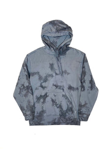 Plain Tie Dye Hoody Black and Grey