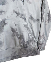 Load image into Gallery viewer, Plain Tie Dye Hoody Black and Grey