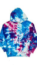 Load image into Gallery viewer, Plain Tie Dye Hoody Blue and Purple