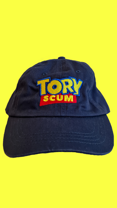 Tory Scum low profile dad cap in blue