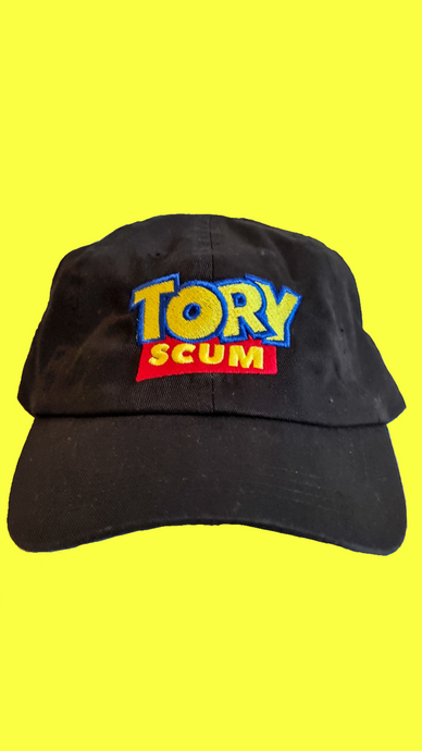 Tory Scum low profile dad cap in black