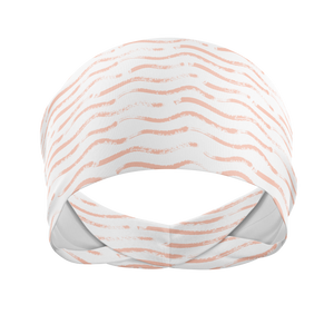 Coral Wave-Wicking Workout Headband