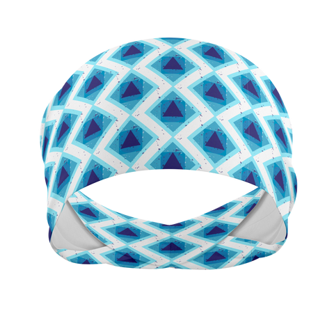 Blue Diamond-Wicking Workout Headband