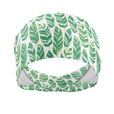 Leafy Green-Wicking Workout Headband