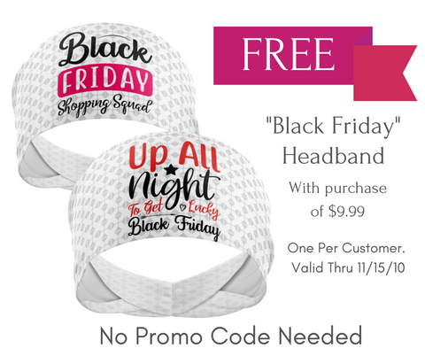 Black Friday - Wicking Workout Headband