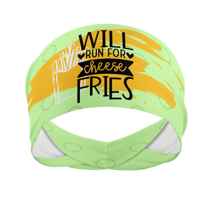 Will Run For Fries -Wicking Workout Headband
