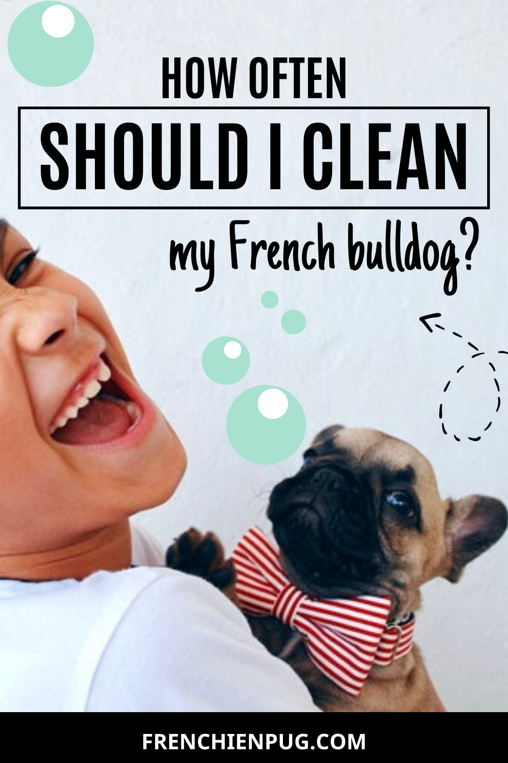 How often should I clean my French bulldog?