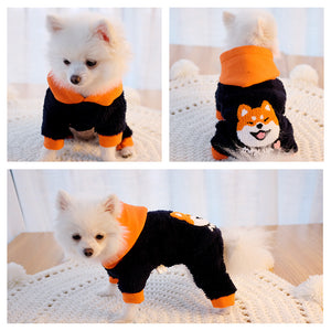 Hairy Warm Hoodies Puppy Clothing - Frenchie N Pug