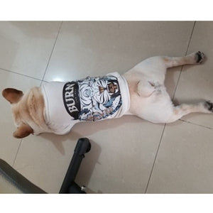 Design Printed Dog T-shirts - Frenchie N Pug