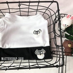 Puppy Embroidery Cotton Clothes Soft Tshirt - Frenchie N Pug