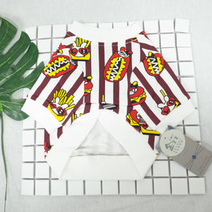 Hotdog Fries Printing Dog Sweater - Frenchie N Pug