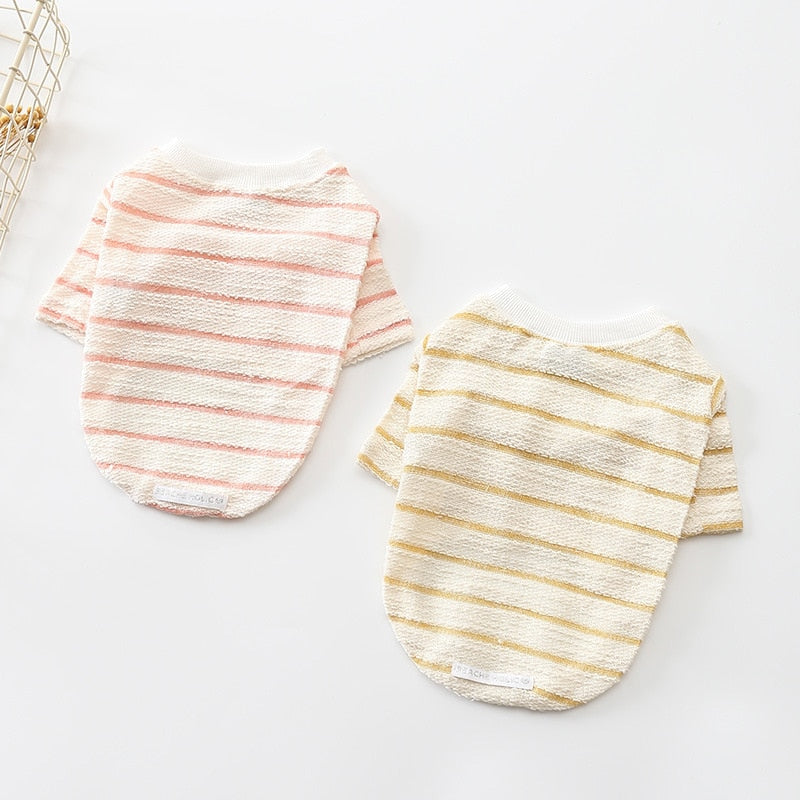 Striped Spring & Summer Soft Sweater - Frenchie N Pug