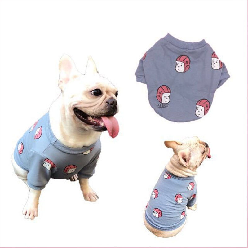 Autumn Dog Tide Brand Cartoon Sweater - Frenchie N Pug