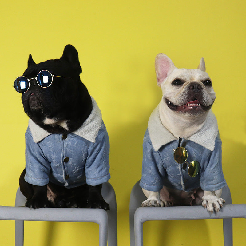 Denim Jacket Outfit - Frenchie N Pug