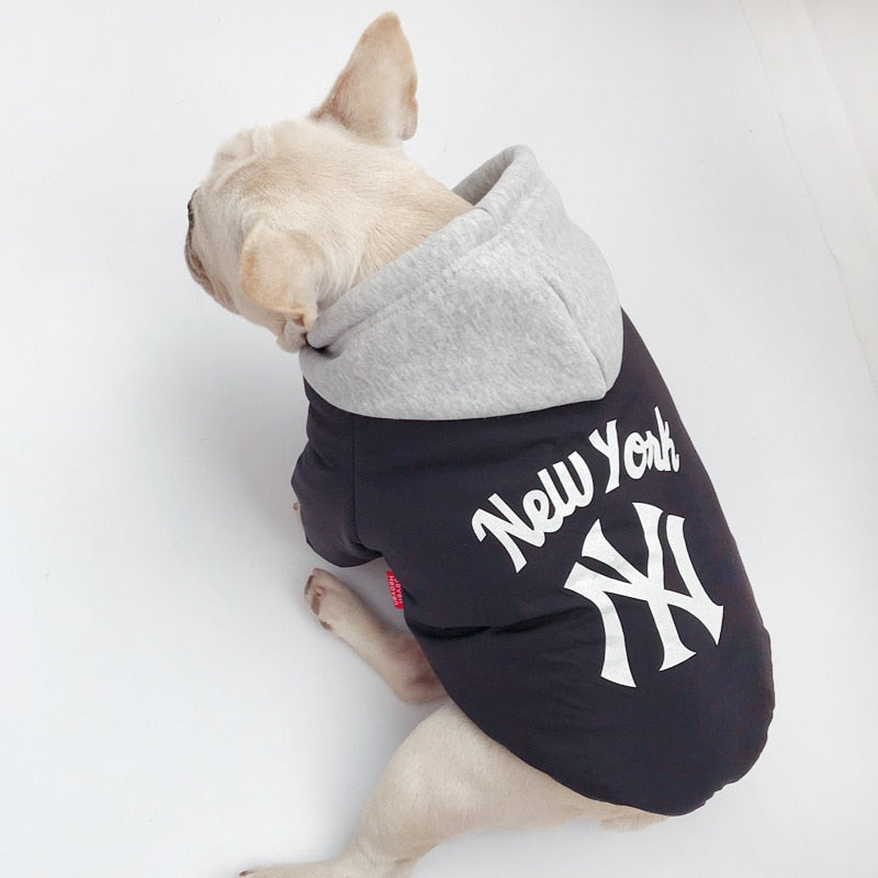 Fashion Print NEW YORK Hoodies - Frenchie N Pug