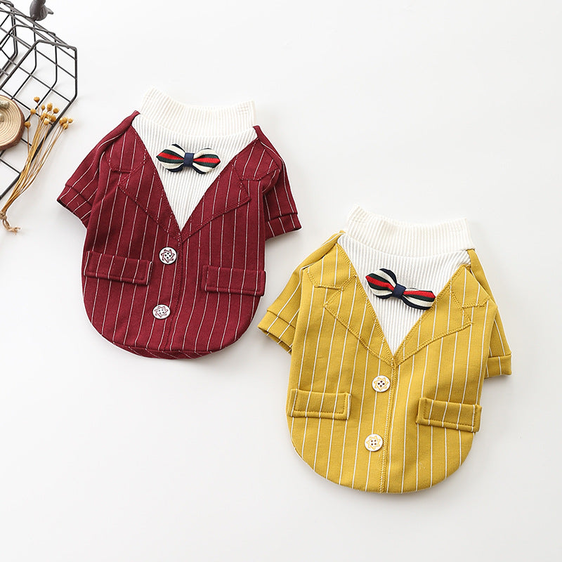 Red and Yellow Gentlemen Shirt - Frenchie N Pug