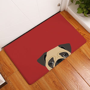 Minimalist Pug & French Bulldog Door Mat - Frenchie N Pug