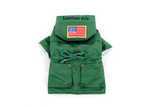 American Style Windbreaker Jacket - Frenchie N Pug