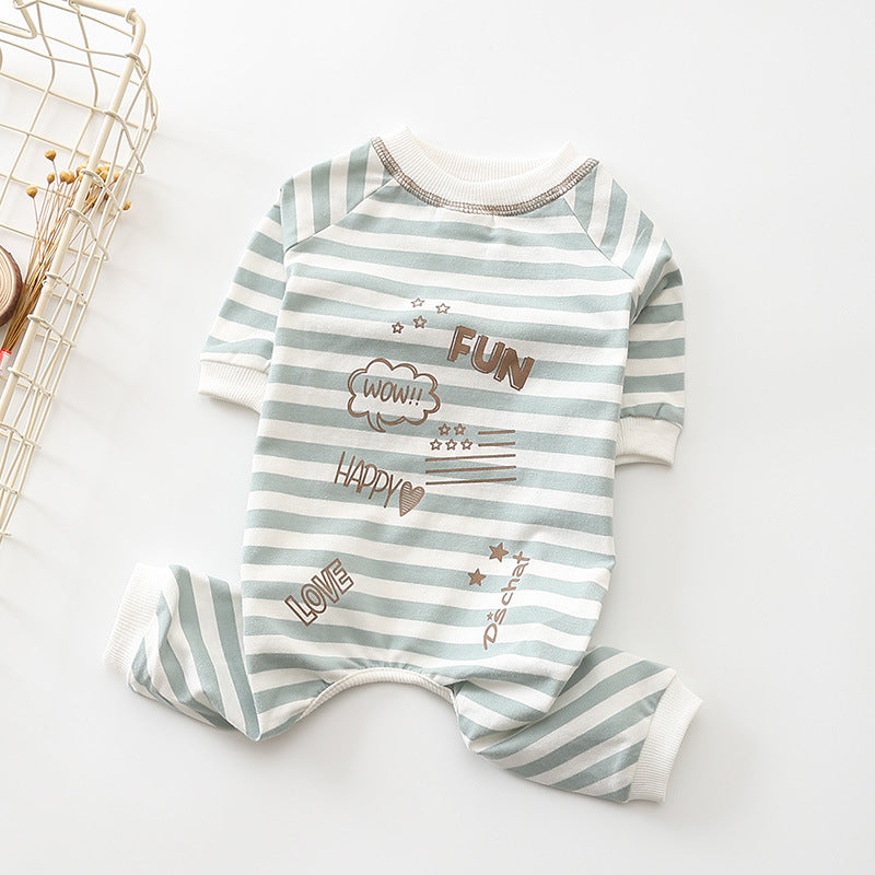 Striped Romper Munchkin Pajama - Frenchie N Pug