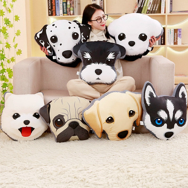 Cute Stuffed Puppy Cushion - Frenchie N Pug