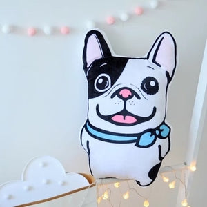 Cute plush pug & french bulldog sofa cushion - Frenchie N Pug
