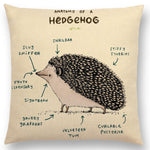 Animals Anatomy Cushion Cover - Frenchie N Pug