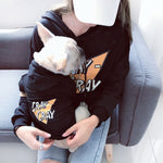 CRAY-CRAY Black Matching Dog and Owner Hoody - Frenchie N Pug