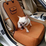 Pet Dog Front Seat Cover Protector for Cars 2 in 1 Carrier for Dogs Folding Cat Car Booster Seat Cover Anti-Slip Pet Car Carrier - Frenchie N Pug