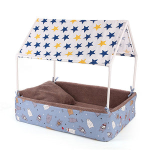 Washable Home Shape Dog Bed + Tent Dog - Frenchie N Pug
