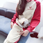 High Quality Red and Cream Matching Dog and Owner Jumper - Frenchie N Pug