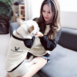 Black and Cream Matching Dog and Owner Jumper - Frenchie N Pug