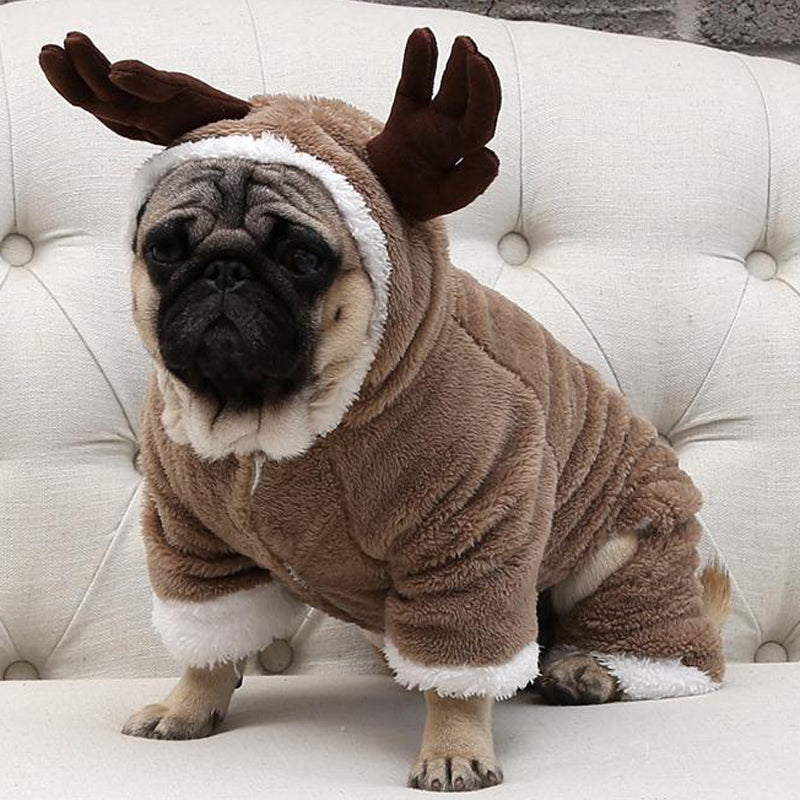 Reindeer Antlers Christmas Winter Onesie - Frenchie N Pug